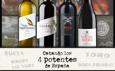 CATANDO LOS 4 POTENTES DE ESPAÑA desde México con RAÚL VERA de Terravid con Vinos Iberian