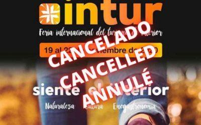 ÚLTIMA HORA Intur Negocios cancela su jornada profesional del 19 de noviembre