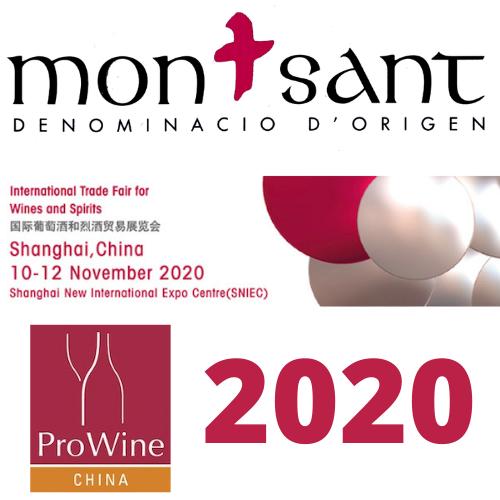 LA DO MONTSANT, PRESENT A L'EDICIÓ 2020 DE PROWINE CHINA a SHANGHAI
