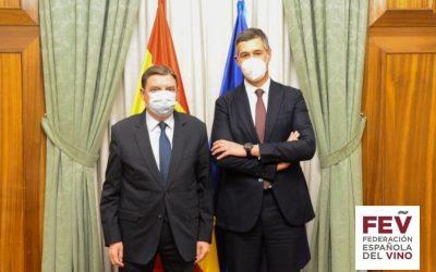 La FEV presenta al ministro Planas su propuesta para el sector del vino en el marco de los fondos europeos de recuperación