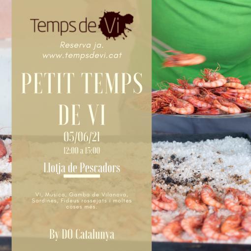Dissabte 5 de juny tindrà lloc l'aperitiuPetit Temps de Vi by DO Catalunyaa Vilanova i la Geltrú.